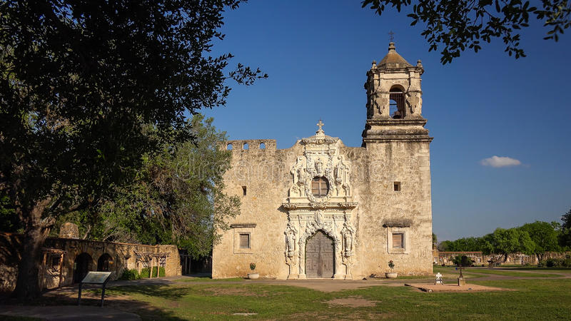 Missão espanhola San Jose em San Antonio, Texas fotografia de stock