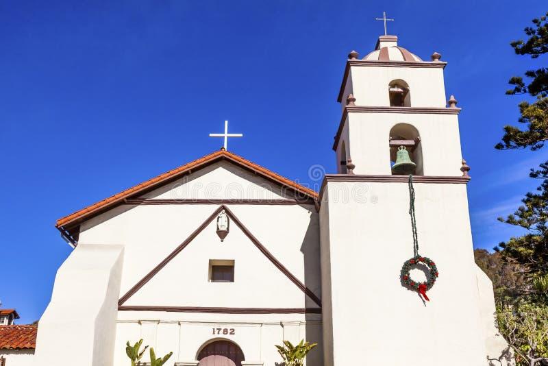 Missão San Buenaventura Ventura California fotografia de stock