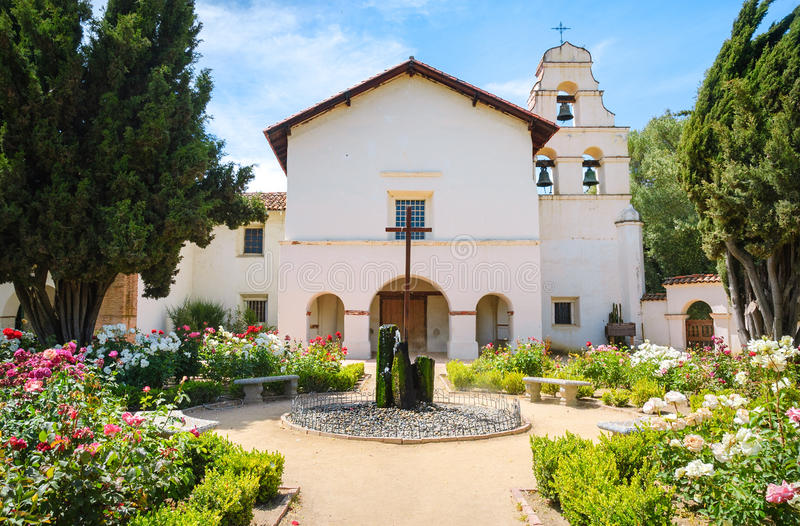 Missão San Juan Bautista State Historic Park imagens de stock royalty free