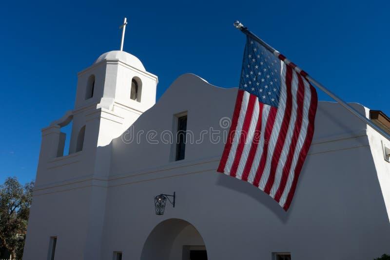 A missão velha do adôbe em scottsdale o Arizona EUA imagens de stock