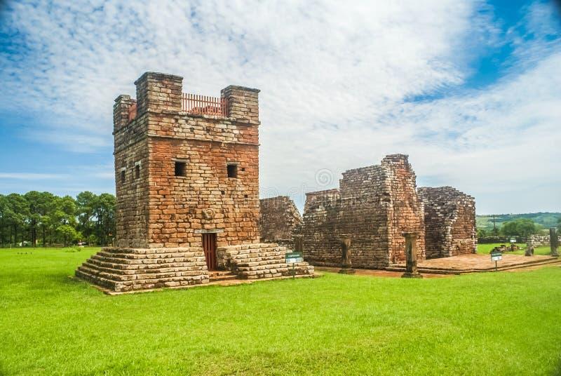 Missões do jesuíta em Paraguai foto de stock