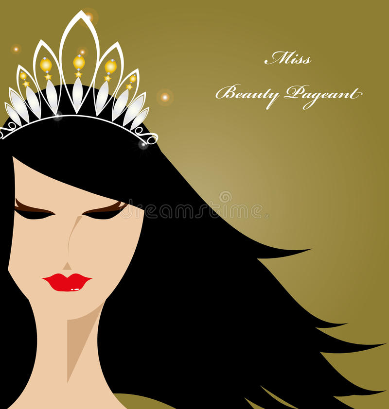 Miss Beauty Pageant stock illustration