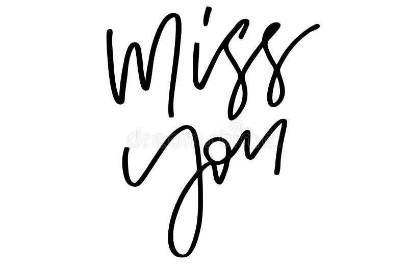 Miss dig handskriven text Modern kalligrafi Inspirerande qu royaltyfri illustrationer