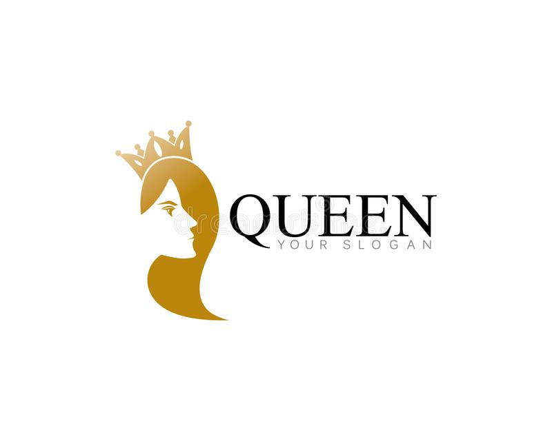 miss dorato con il illsutration di vettore di logo del modello della corona illustrazione vettoriale