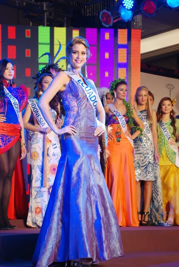 Miss Ecuador Wearing National Costume Editorial Photo
