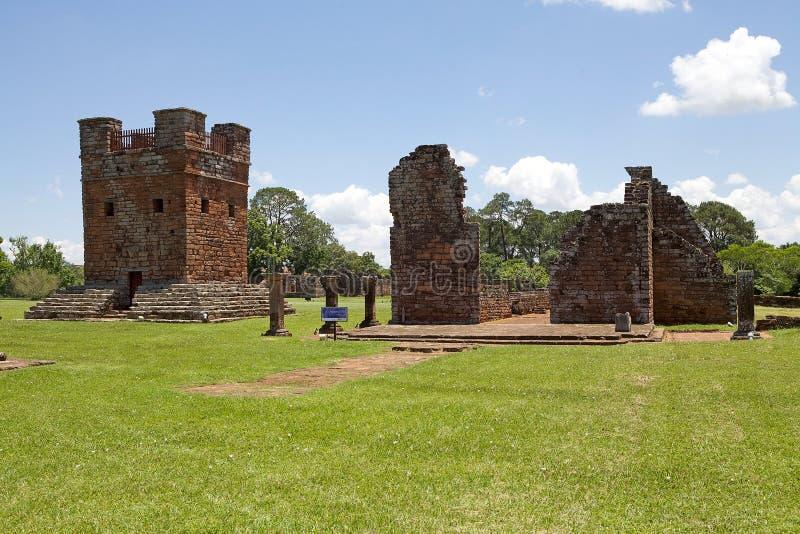 Miss?es do jesu?ta do La Santisima Trinidad de Paran?, Paraguai foto de stock royalty free