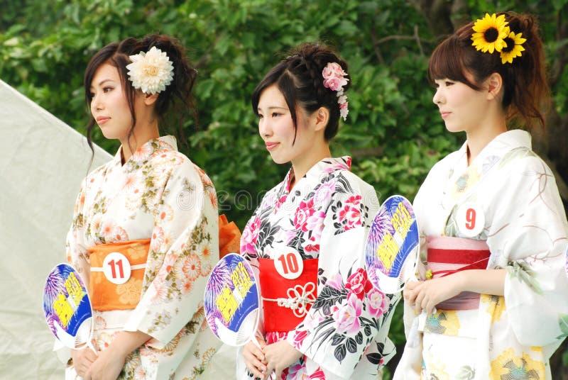 Miss Fuji Город в празднестве города Fuji стоковая фотография rf