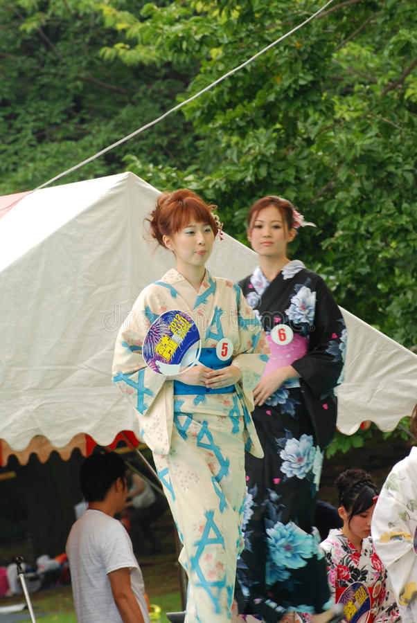 Miss Fuji City in Japan Festival royalty free stock photos