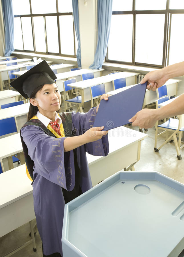 Download A Miss Graduate And Certificate Stock Image - Image: 25704817