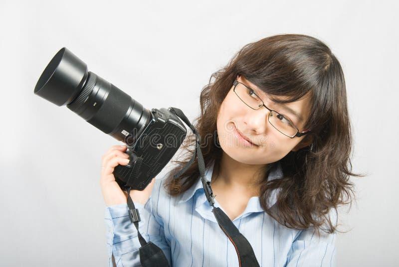 Miss Photographer stock image