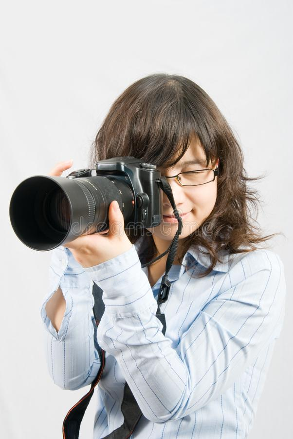 Miss Photographer royalty free stock images