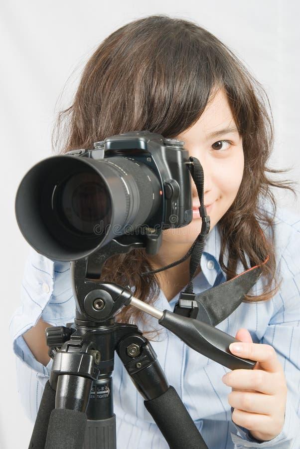 Miss Photographer stock photography