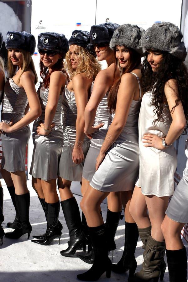 miss russia för 2008 finalister royaltyfria bilder