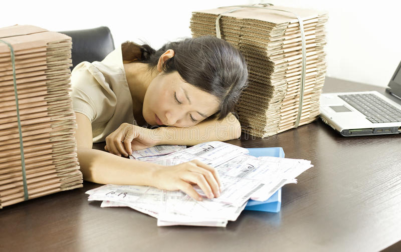 A miss staff in office stock photo
