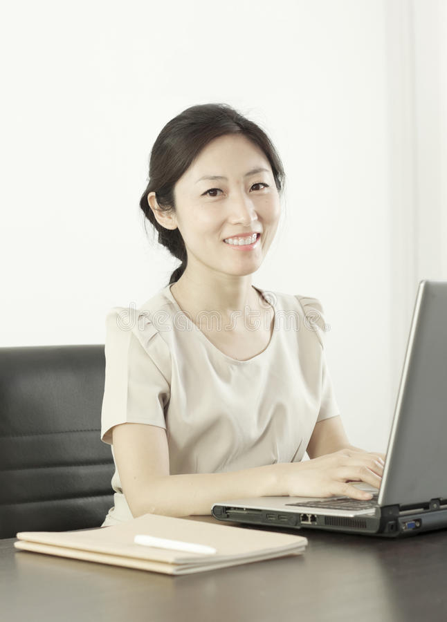 A miss staff in office royalty free stock image