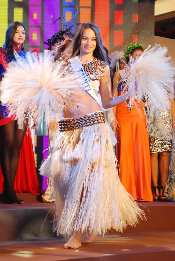 Download Miss Tahiti Wearing National Costume Editorial Photo - Image: 21824551