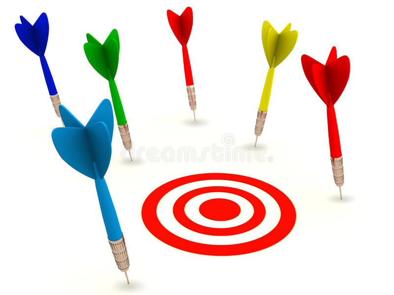 Download Miss the target stock illustration. Image of fail, failure - 25216724