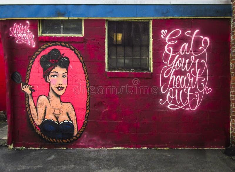 Miss Worcester Graffiti Wall royalty free stock photo