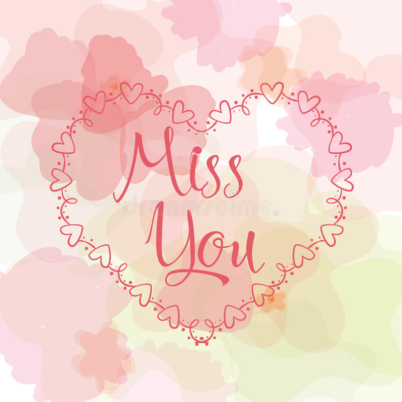 Miss you inscription greeting card with calligraphy hand drawn download miss you inscription greeting card with calligraphy hand drawn lettering design typography m4hsunfo