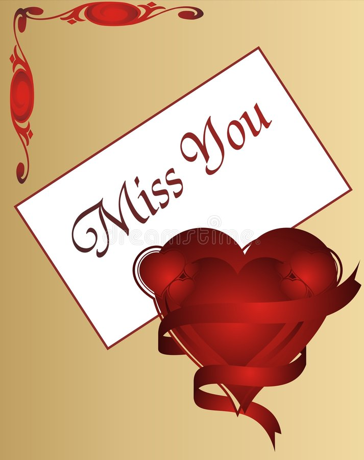Miss u greeting cards for lover