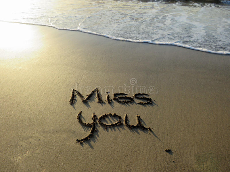 Miss You Written Sand Photos - Free & Royalty-Free Stock Photos from  Dreamstime