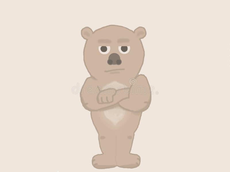 Missbelåten koala royaltyfri illustrationer