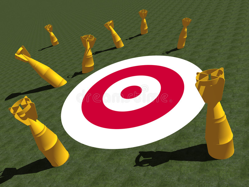 Download TARGET stock illustration. Image of cluster, goal, failure - 2710755