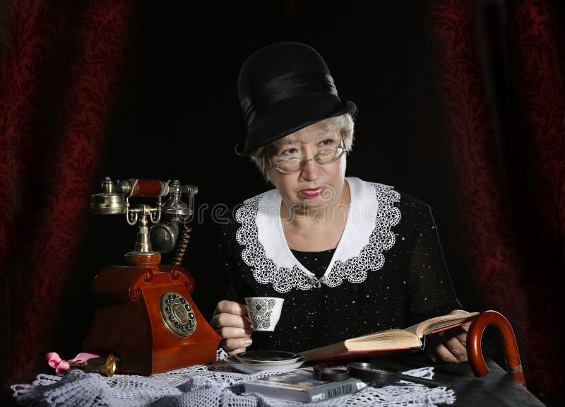 Misser Marple royalty-vrije stock afbeeldingen