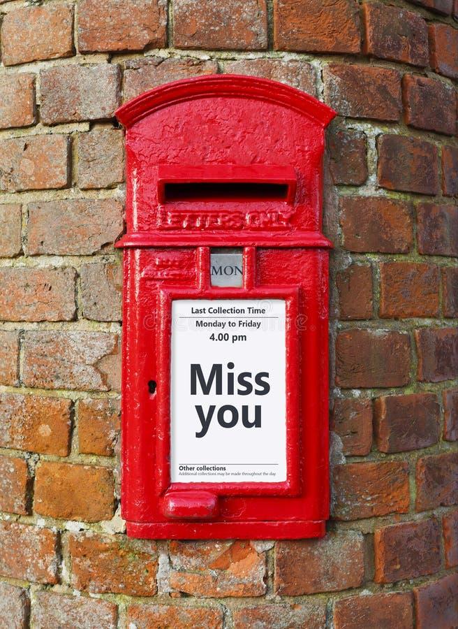 Misser u bericht op een postbus stock foto's