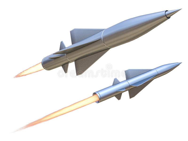 Missile. On a white background royalty free illustration