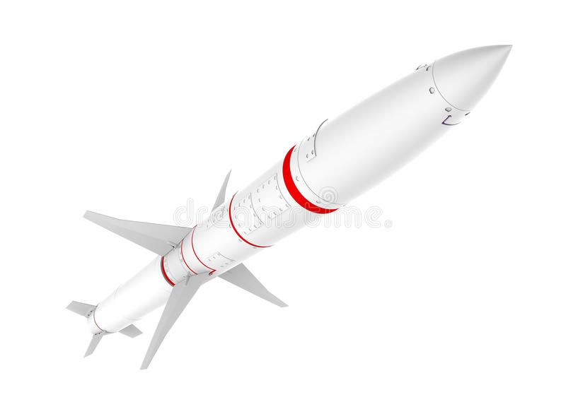 Missile. AGM HARM 88 anti radar missile isolated on white background, clipping path included stock illustration