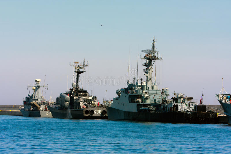 Missile boats flotilla royalty free stock photos