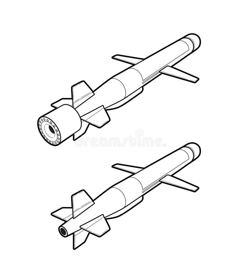 Missile de croisière Illustration de vecteur illustration libre de droits
