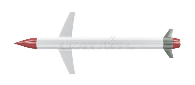 Missile de croisière sur le blanc illustration libre de droits