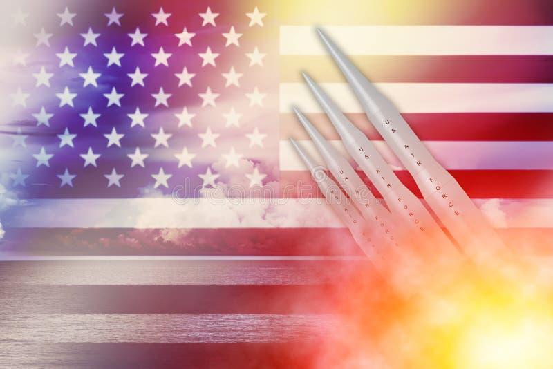 Missile des USA Amérique ICBM pour le concept d'illustration de bombe nucléaire illustration libre de droits