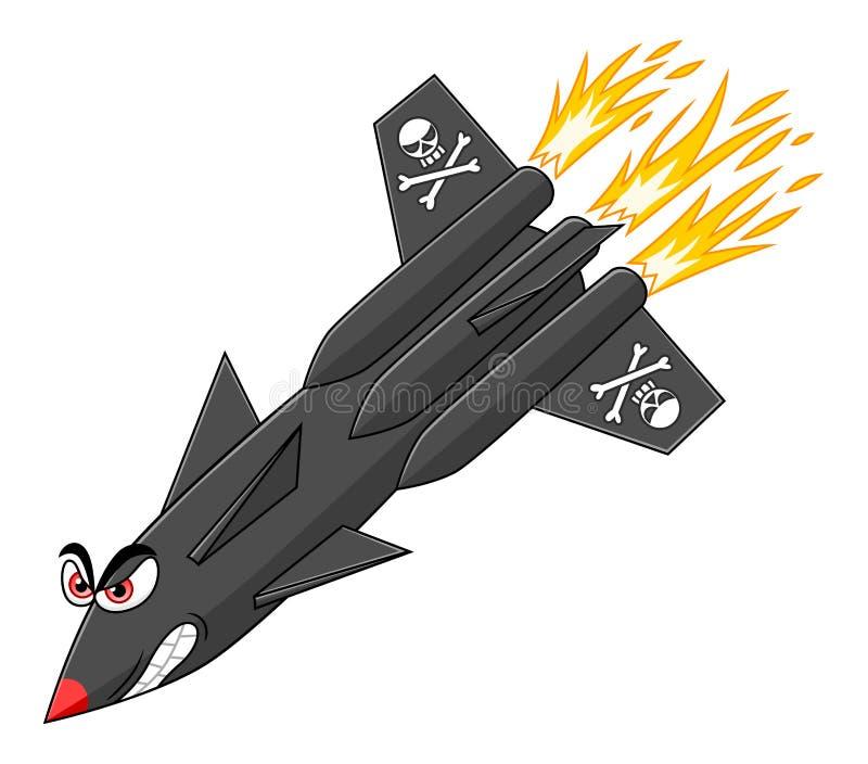 Missile militaire illustration libre de droits