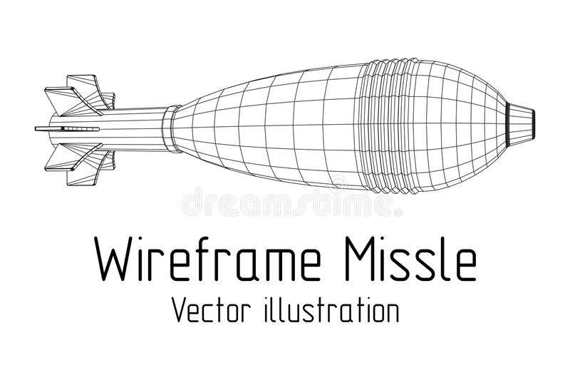 Missile, nuclear bomb vector stock illustration