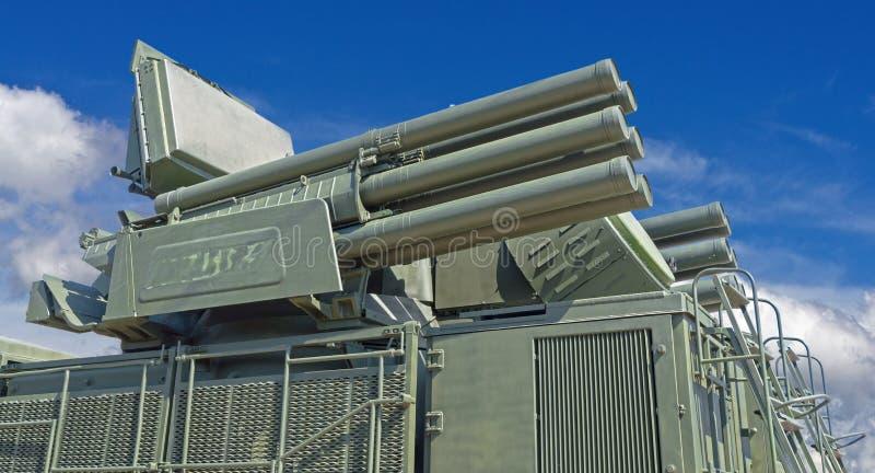 Missile Pantsir-S1 e sistema di armamento contraereo immagine stock