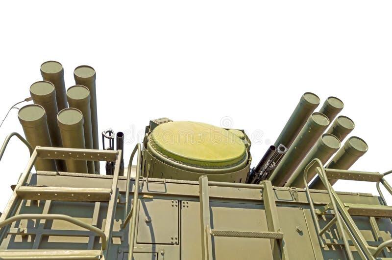 Missile Pantsir-S1 e sistema di armamento contraereo fotografia stock libera da diritti