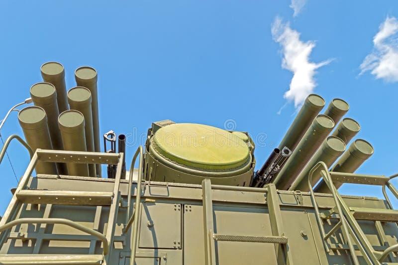 Missile Pantsir-S1 e sistema di armamento contraereo immagini stock