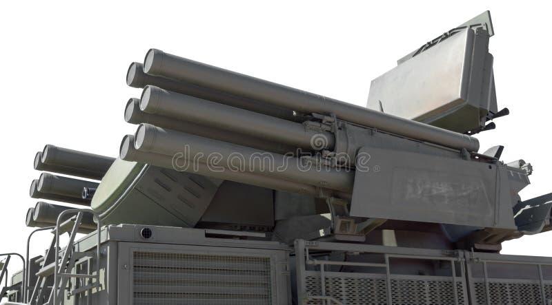 Missile Pantsir-S1 e sistema di armamento contraereo immagini stock libere da diritti