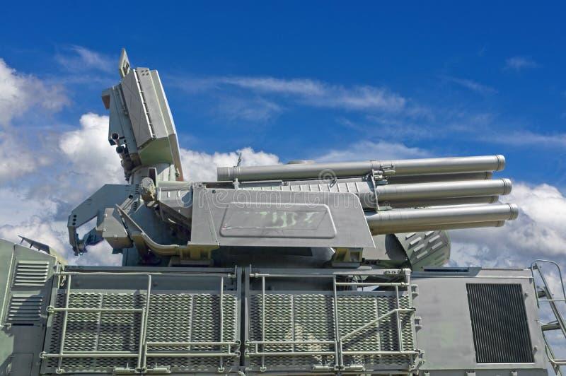 Missile Pantsir-S1 e sistema di armamento contraereo fotografie stock libere da diritti