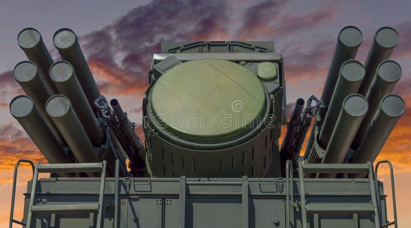 Missile Pantsir-S1 e sistema di armamento contraereo immagine stock libera da diritti