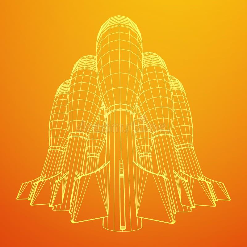 Missile, vecteur de bombe nucléaire illustration de vecteur