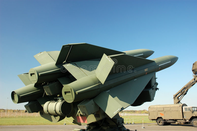 Missiles. Pointing to the sky royalty free stock images