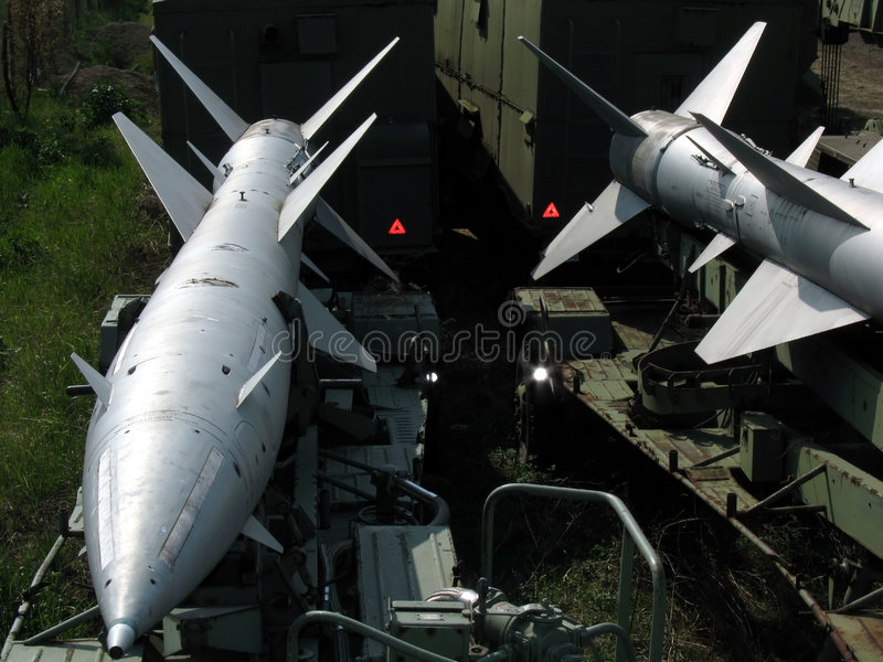 Missiles d'aéronefs image stock