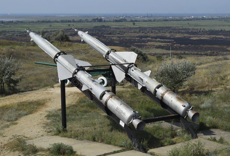Missiles de défense aérien image libre de droits
