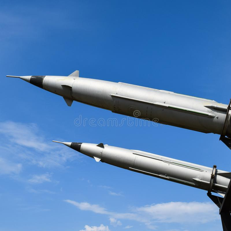 Missiles de défense aérien photographie stock