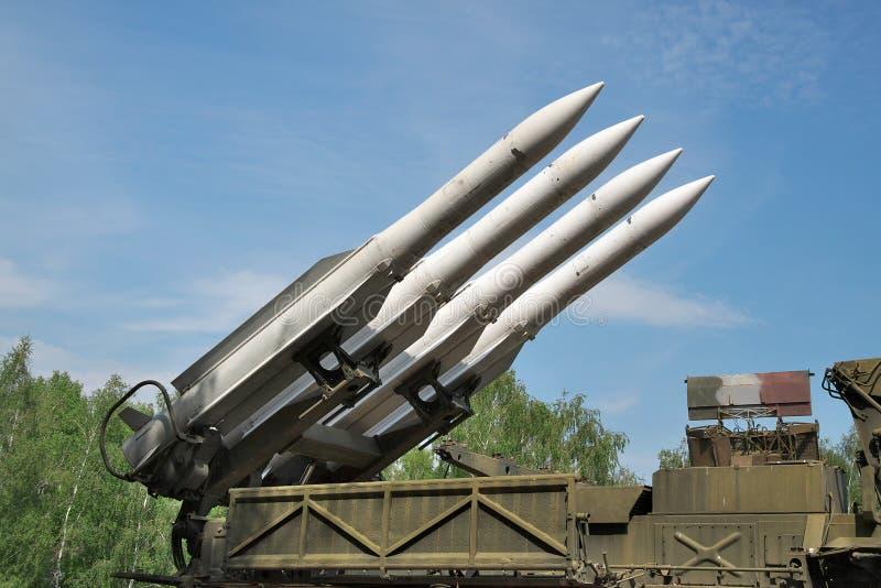 Missiles de défense aérien photo libre de droits