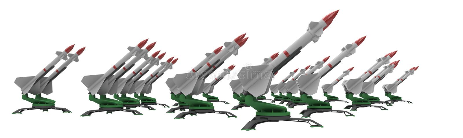 Missiles stock illustration